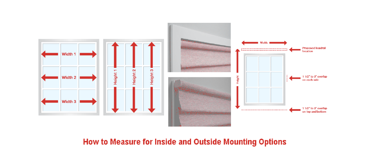 How to Measure for Inside and Outside Window Covering